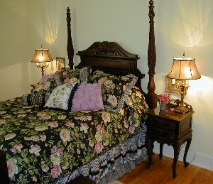 Mrs. Barber's bed