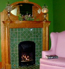 Green Meadows fireplace